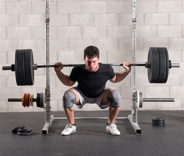 compound exercises for legs: back squat