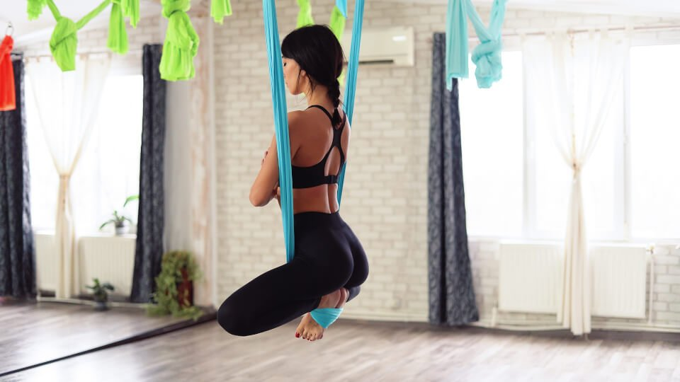 Aerial yoga is an aerial adaption of the traditional form of yoga.